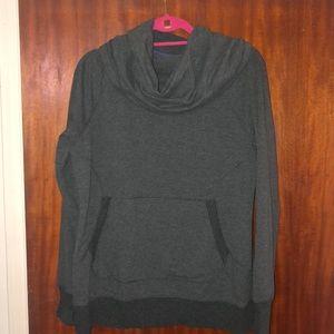 L.L. BEAN cowlneck gray sweatshirt